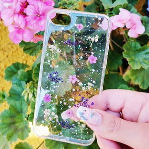 Carcasa Dried Flowers Purple para iPhone SE