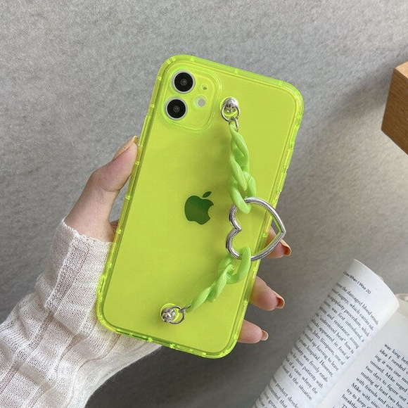 Carcasa Green Fluorescente con correa para iPhone  11