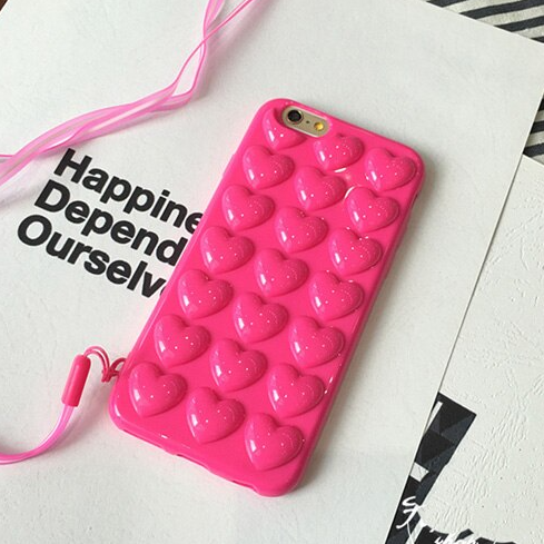 Carcasa Bubble Heart Pink para iPhone 7 y 8