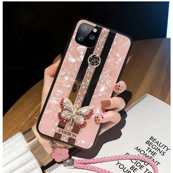 Carcasa fancy butterfly para iPhone 12  y  iPhone 12 Pro