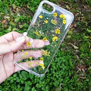 Carcasa Dried Flowers Yellow para iPhone SE
