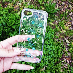 Carcasa Dried Flowers Blue para iPhone SE