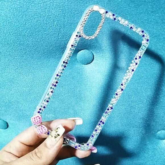Carcasa Pink Diamond Glitter para iPhone X