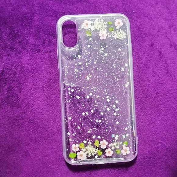 Carcasa Flowers Pink para iPhone X / XS