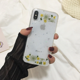 Carcasa Flowers Yellow para iPhone  X / XS