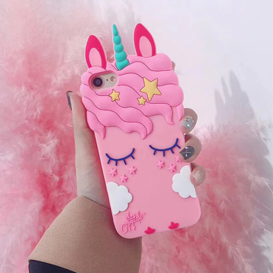 Carcasa Unicornio 3D Pink para iPhone 7 y 8 Plus