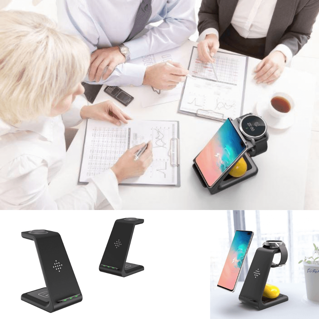 wireless charging station for iwatch smartwatch iphone samsung galaxy phone earbuds tws