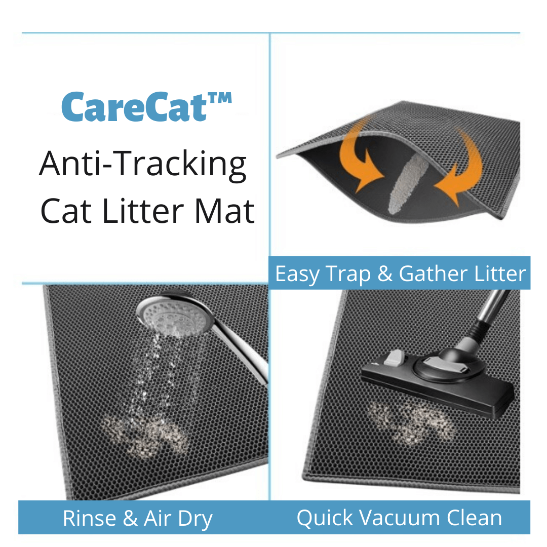 Care Cat Anti tracking kitty litter box mat neoprene waterproof easy clean littering pet