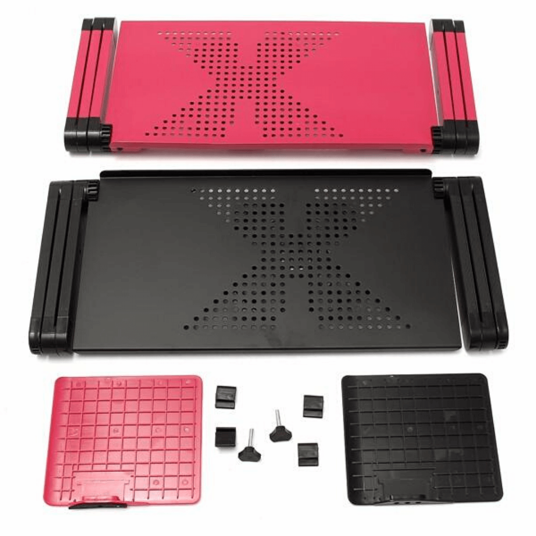 best laptop notebook stand with mouse tray and cooling fan ventilator