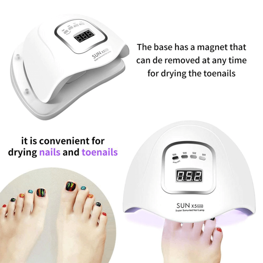 hands and feet nail and toenail gel polish dryer curing polish uv 45 led 150W