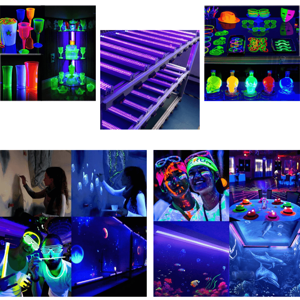 Ultra Violet LED Bar 12inches 30cm party nightclub disco live insects show healing infections