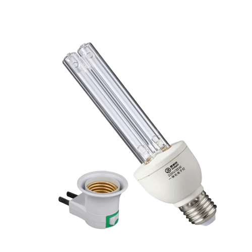 UVC ultraviolet light 254nm tube bulb UV disinfection light 253.7nm for home E27 screw with bulb holder