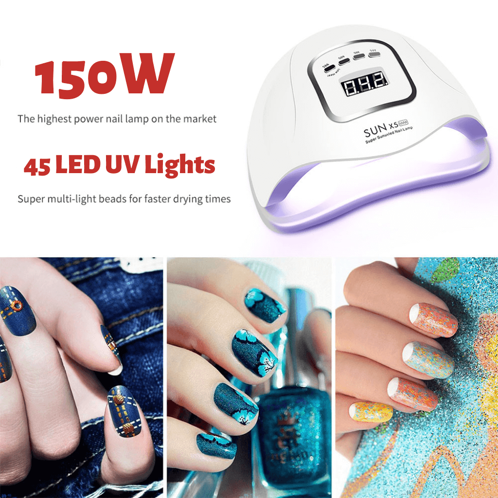 UV nail lamp cure gel polish dryer