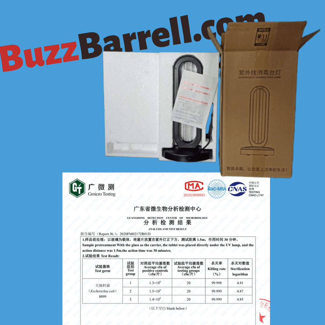 package includes UVC ozone sterilizer light lamp 2020 remote control certificate