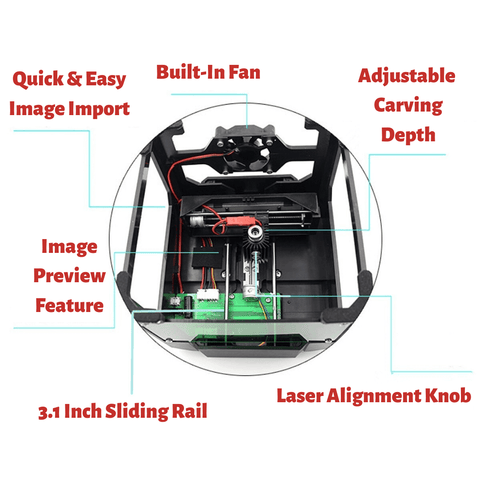 feature rich DIY home and office laser engraver machine