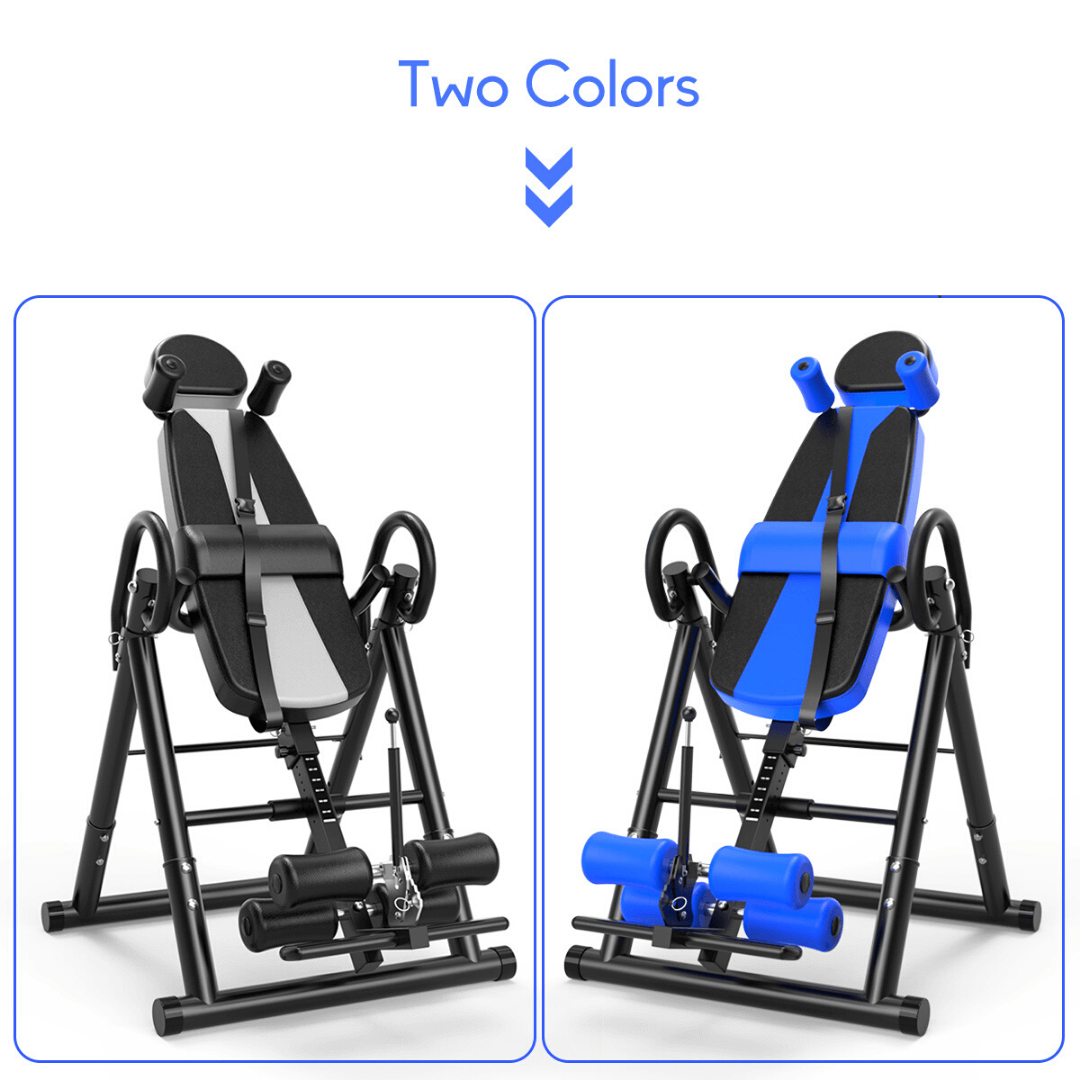 premium inversion table for lower upper back pain relief stretching back stretches with security strap belt