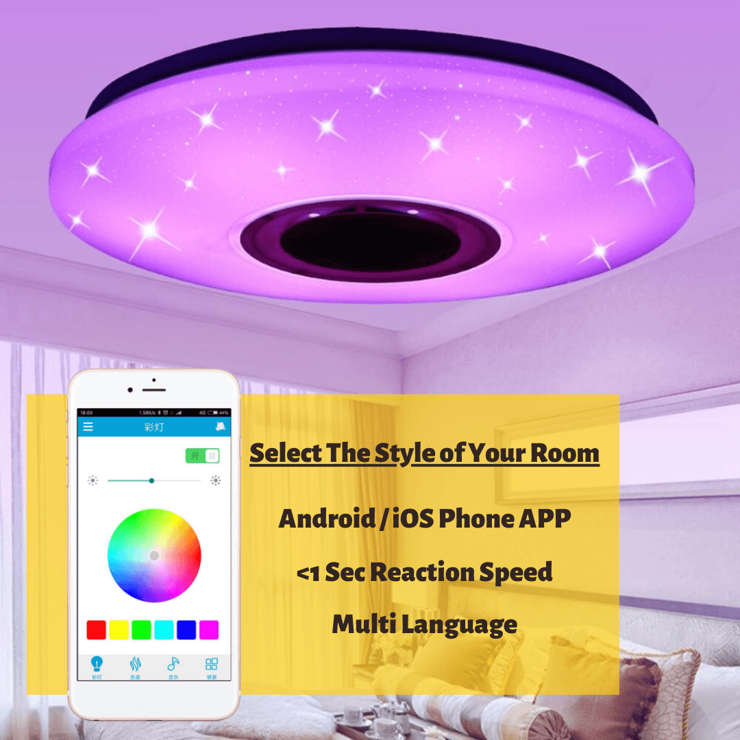 LuxVox LED ceiling light all 3 three in one with iphone smartphone app