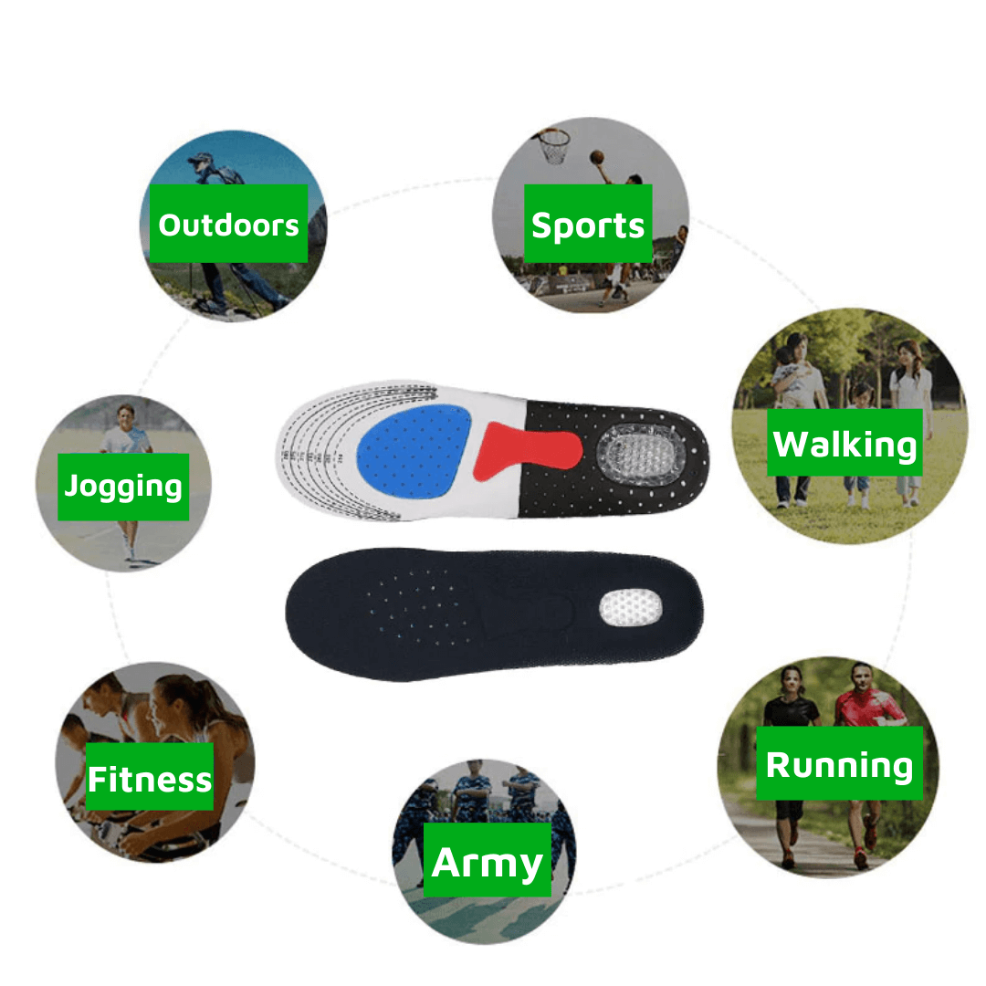 Orthopedic Sport Insole Breathable Shock Absorbing Height Boosting Heels