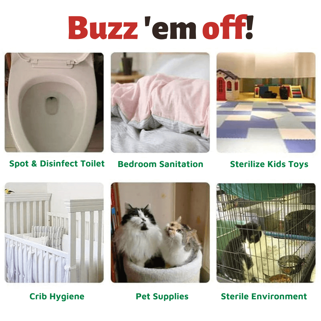 get rid of bacteria, virus, mites and other microorganisms inside your beautiful home where you live and eat