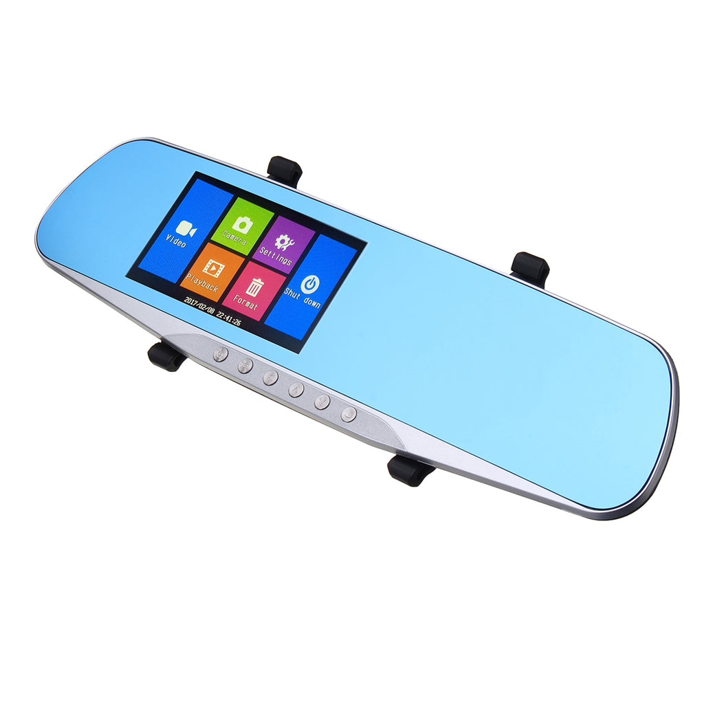 Rear View Touch Screen Dual Lens Car DVR Car Rear View Camera
