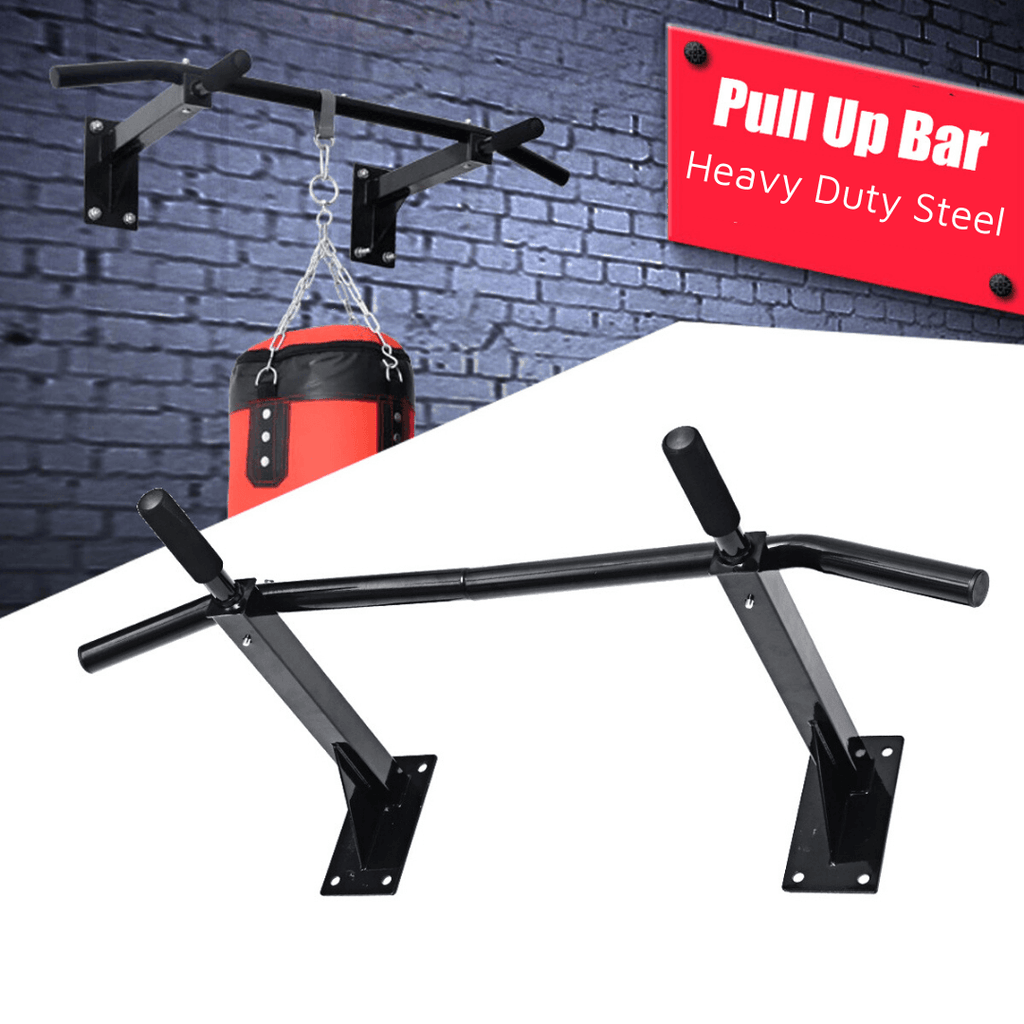 BodyTemple™ Heavy Duty Pull Up Chin-Up Steel Bar Wall Mounted for Home Workout
