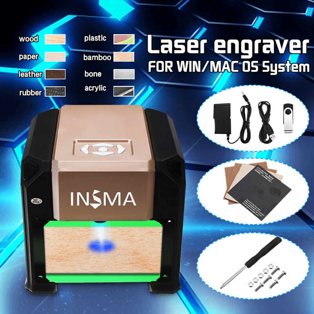 Ultimate Laser Engraver Machine DIY Home & Office  3000mW Top Performance Logo Deep Carver Tool