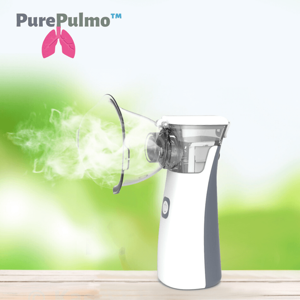 PurePulmo™ Portable Nebulizer Machine for Congestion and Asthma Breathing Treatment