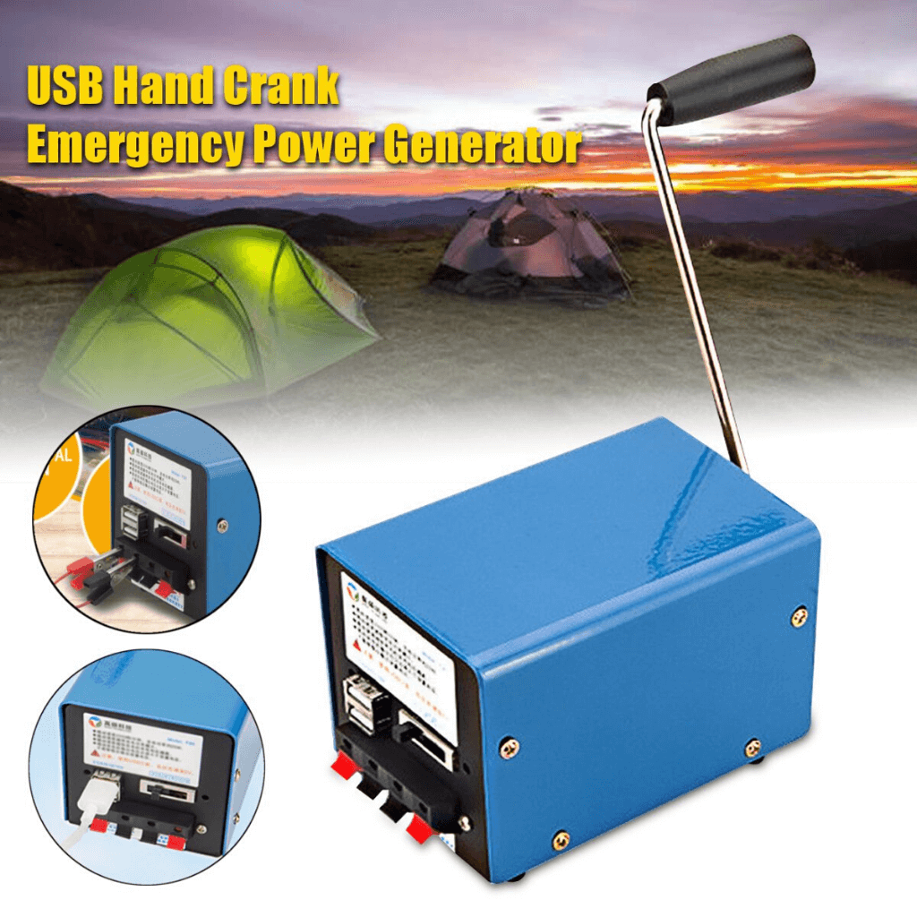 Emergency Power Generator USB Charger with Hand Crank for SOS Survival