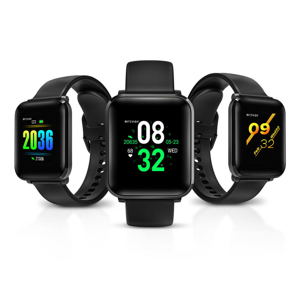 Smart Watch Sport & Lifestyle Big IPS Touch Screen Bluetooth Android/iOS Call & Chat Notifications, Sleek Black