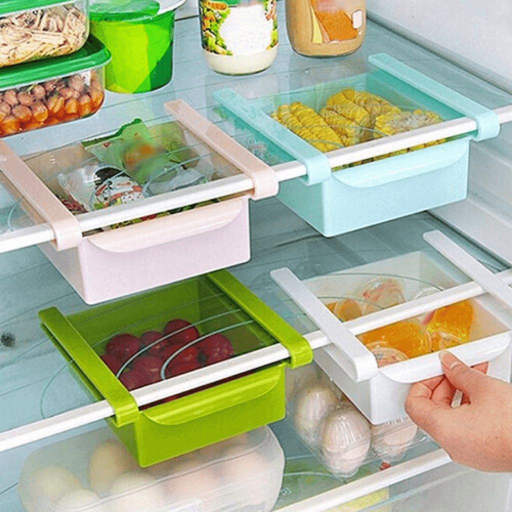FridgeRack™ Organize your Refrigerator to maximize storage space for groceries