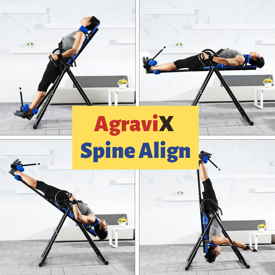 AgraviX™ SPINE ALIGN Premium Inversion Table Home Workout Stretching Station Back Pain Relief
