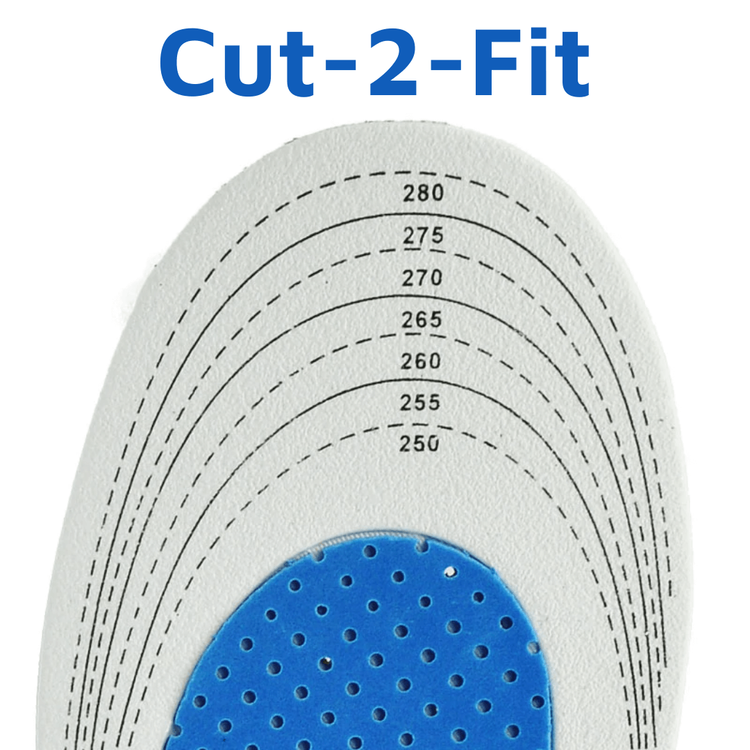 Orthopedic Plantar Pain Relieving Shoe Insole Breathable Shock Absorbing Height Boosting Insoles