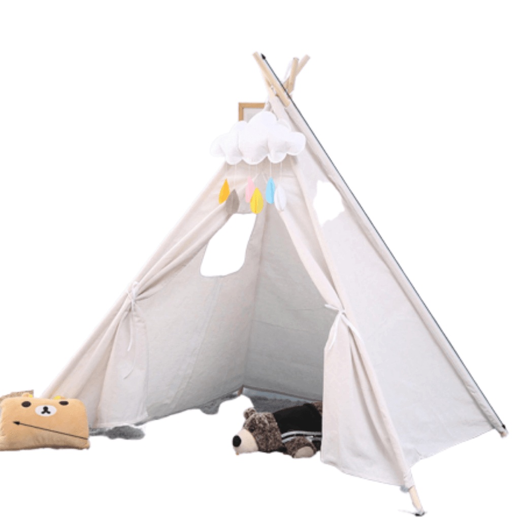 PlayTeepee™ Kids & Pet Tent Play House Cotton Wigwam with Window