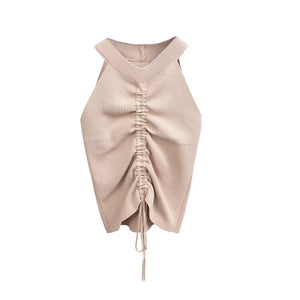 Sofia Ruched Top - Beige
