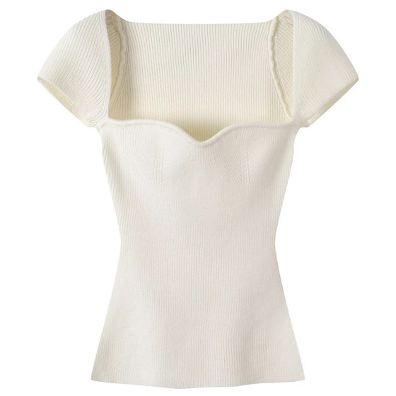 Kate Knit Top - Cream