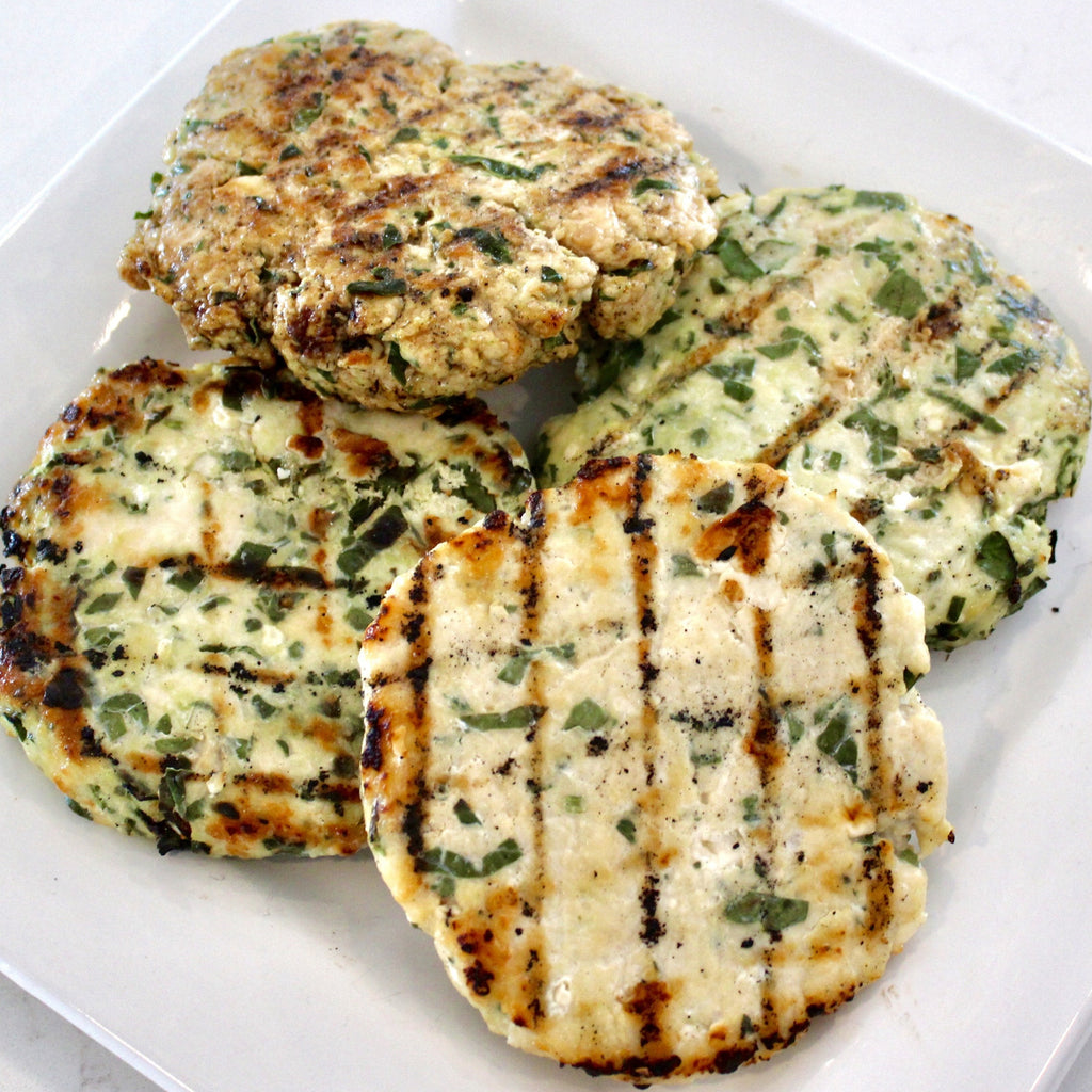 24oz. Spinach Feta Turkey Burger - GF