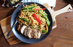 Asian Noodles & Teriyaki Chicken
