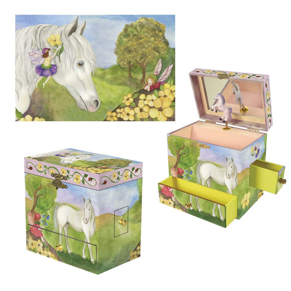 Horse Fairy music box 3-in-1 view | Musical treasure boxes and decor for kids from Enchantmints | unusual gifts for kids
