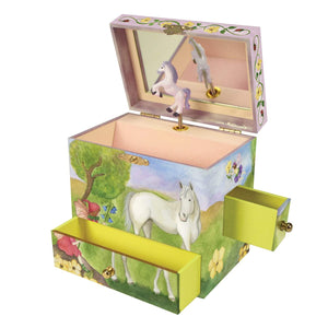 Horse Fairy music box open view | Musical treasure boxes and decor for kids from Enchantmints | unusual gifts for kids