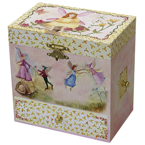 Just in Case music box closed view | Musical treasure boxes and decor for kids from Enchantmints | unusual gifts for girls