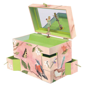 Wings of a song music box open view | Musical treasure boxes and decor for kids from Enchantmints | unusual gifts for kids