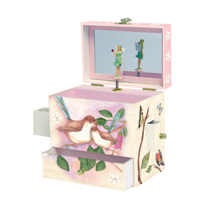Sweet Fairy Wrens  music box open view | Musical treasure boxes and decor for kids from Enchantmints | unusual gifts for kids
