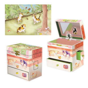 Curious Kittens music box 3-in-1 view | Musical treasure boxes and decor for kids from Enchantmints | unusual gifts for cat lovers