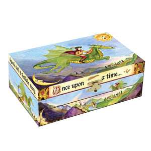 Dragon's World music box closed view | Musical treasure boxes and decor for kids from Enchantmints | unusual gifts for kids