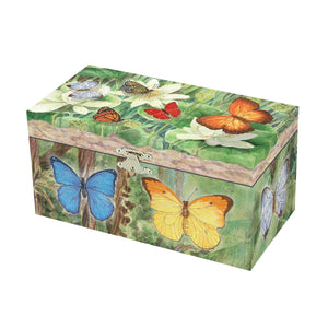 Butterfly music box closed view | Musical treasure boxes and decor for kids from Enchantmints | unusual gifts for girls