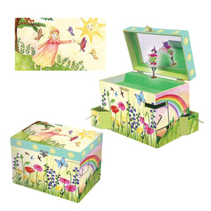 Summer Sunshine music box 3-in-1 view | Musical treasure boxes and decor for kids from Enchantmints | unusual gifts for kids