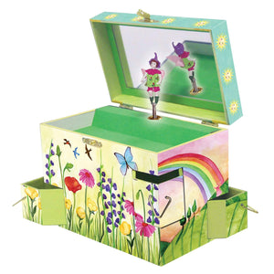 Summer Sunshine music box open view | Musical treasure boxes and decor for kids from Enchantmints | unusual gifts for kids
