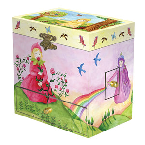 Spring Burst music box closed view | Musical treasure boxes and decor for kids from Enchantmints | unusual gifts for kids
