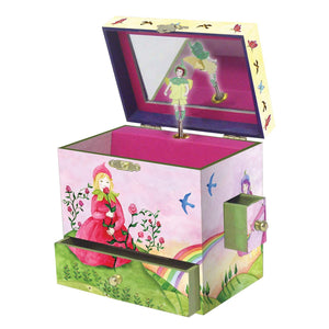 Spring Burst music box open view | Musical treasure boxes and decor for kids from Enchantmints | unusual gifts for kids