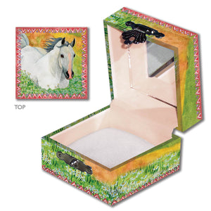 Horse In Meadow Tiny Treasure Box